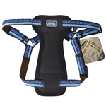"Coastal K9 Explorer 1"" Padded Harness Sapphire Blue  (26-38"")"