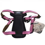 "Coastal K9 Explorer 1"" Padded Harness Rosebud Pink  (26-38"")"