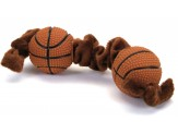Coastal Li'l Pals Plush and Vinyl Dog Toy Basketball Tug Toy