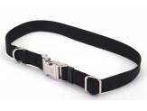 Coastal Adjustable Nylon Collar with Titan Metal Buckle Black 3/4X14-20in