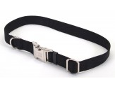 Coastal Adjustable Nylon Collar with Titan Metal Buckle Black 1X14-20in