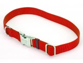 Coastal Adjustable Nylon Collar with Titan Metal Buckle Red 1X14-20in