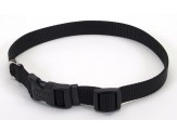 Coastal Adjustable Nylon Collar with Tuff Buckle Black 1x20in