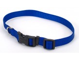 Coastal Adjustable Nylon Collar with Tuff Buckle Blue 1x20in