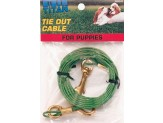 Coastal Titan Puppy Tie Out Cable with Brass Plated Snaps Green 12ft