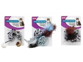 Ethical Products Spot Animal Print Rattle With Catnip 2pk