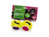 Ethical Products Spot Mini Tennis Balls With Bell & Catnip Assorted 2pk