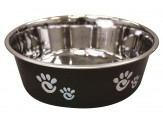 Ethical Products Barcelona Stainless Steel Paw Print Bowl Licorice 64oz