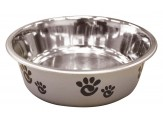 Ethical Products Barcelona Stainless Steel Paw Print Bowl Silver 8oz