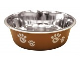 Ethical Products Barcelona Stainless Steel Paw Print Bowl Copper 8oz