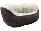 Ethical Velvet Feel Hi Wall Bed Medium 32 X 25 X 16 Chocolate