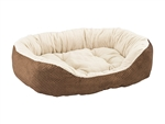 "Ethical Pet Checkerboard Napper Cuddler 31""Chocolate"
