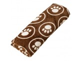 Ethical Snuggler Paws/Circle Blanket Chocolate 30X38