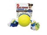 Ethical Play Strong Foamz Ball with Rope Dog Toy 3.25in
