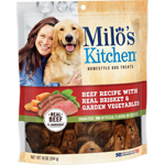 Milos Kitchen Beef Recipe With Real Brisket & Garden Vegetables Dog Treats 10OZ