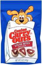 Canine Carry Outs Steak Bites 5oz
