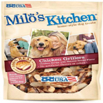 Milos Kitchen Chicken Grillers Dog Treat 2.7oz