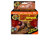 Zoo Med Nightlight Red Reptile Bulb 60W 2pk