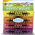 Bags on Board Rainbow Colored Dog Waste Bags Refill Pack, 9x12 in, 60 bags