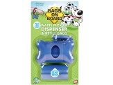 Bags on Board Blue Bone Dispenser with bags 30ct
