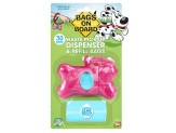 Bags on Board Pink Bone Dispenser with bags 30ct