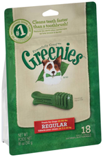 GREENIES Original Regular Size Dog Dental Chews - 18 Ounces 18 Treats