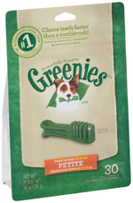GREENIES Original Petite Dog Dental Chews - 18 Ounces 30 Treats