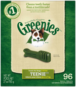 GREENIES Original TEENIE Dog Dental Chews - 27 Ounces 96 Treats