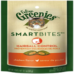 FELINE GREENIES SMARTBITES Hairball Control Treats for Cats Chicken Flavor 2.1 oz.