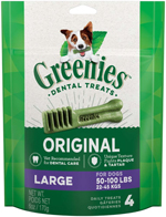 GREENIES Original Large Dog Dental Chews - 6 Ounces 4 Treats