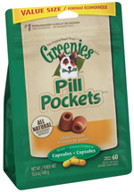 GREENIES PILL POCKETS Treats for Dogs Chicken - Capsule Size 15.8 oz. 60 Treats