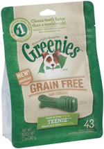 GREENIES Grain-free TEENIE Dog Dental Chews - 12 Ounces 43 Treats