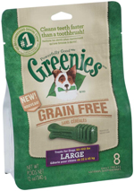 GREENIES Grain-free Large Dog Dental Chews - 12 Ounces 8 Treats
