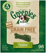 GREENIES Grain-free TEENIE Dog Dental Chews - 27 Ounces 96 Treats