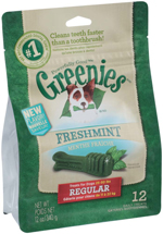 GREENIES Fresh Regular Size Dog Dental Chews - 12 Ounces 12 Treats