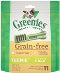 Greenies Grain Free Dental Dog Treat Entry Level Teenie 3oz