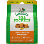 Greenies Pill Pockets Dog Treats, 15.8 oz Cheese, Tablets - 60 count