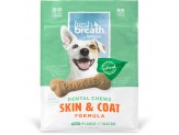 TropiClean Dental Chew Skin & Coat Dog Treat 5-25lbs Small 20ct