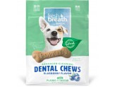 TropiClean Dental Chew Blueberry Dog Treat 5-25lbs Small 20ct
