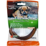 N-Bone Puppy Teething Ring Pumpkin Flavor Single