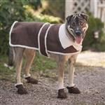 Fashion Pet Shearling Coat Brown Medium