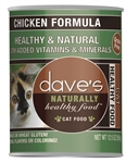 Daves Naturally Healthy Cat Food, Chicken Formula Case Of 12