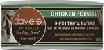 Daves Naturally Healthy Cat Food, Chicken Formula Case of 24