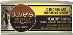 Daves Naturally Healthy Cat Food, Chicken & Herring Dinner Case Of 24
