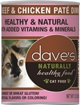 Daves Naturally Healthy Cat Food, Beef & Chicken Case Of 12