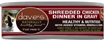 Daves Naturally Healthy Shredded Chicken In Gravy Case Of 24