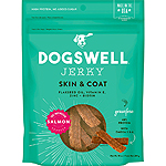 DOGSWELL DOG SKIN & COAT JERKY GRAIN FREE SALMON 10OZ