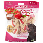 Wonder Snaxx Braids Vanilla Yogurt & Strawberry Large 4Ct