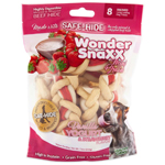 Wonder SnaXX Braids Vanilla Yogurt & Strawberry Small/Medium 8ct