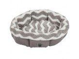 Precision SnooZZy Zig Zag Shearling Round Dog Bed Gray 21in